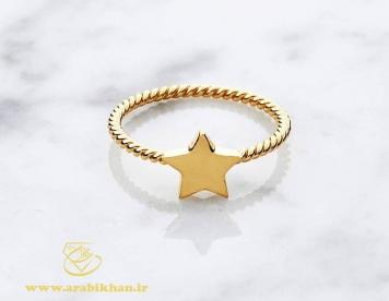 انگشتر زیبا طرح ستاره