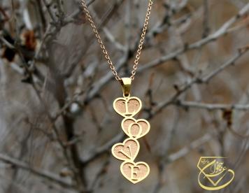 گردنبند قلب و love
