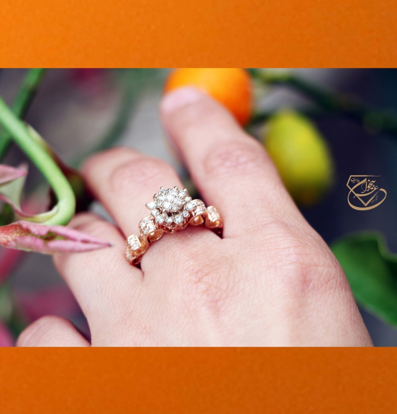 انگشتر جواهر فلاور سلطنتی