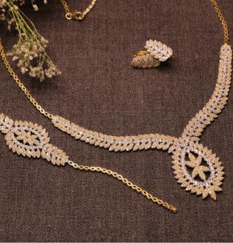 سرویس طلا عروس  دو رنگ